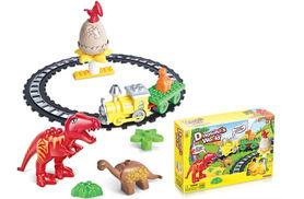 £9.99 instead of £19.99 for a dinosaurs world brick train set from Ckent Ltd - save 50%