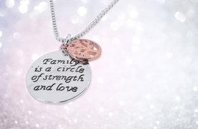 £7 instead of £29 (from Styled By) for a 'Family is a Circle of Strength and Love' pendant necklace - save 76%
