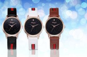 £8 instead of £49 (from Styled By) for a designer inspired leather watch - choose from three colours and save 84%