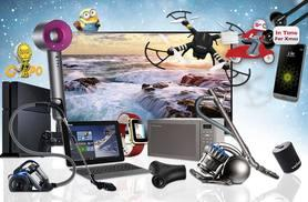 "From £10 for a Mystery Electronics Deal from HCI Distribution - get a Dyson Supersonic hairdryer, LG 49"" UHD 4K TV, Sony PS4, GPS-guided X-Drone Quadcopter and more!"