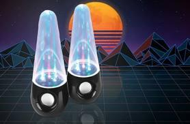 £19.99 instead of £37.50 (from Benross) for a pair of dancing water speakers - sync to your smartphone via Bluetooth and save 50%