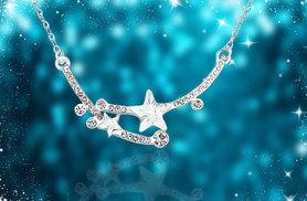 £12 instead of £58 (from Evoked Design) for a crystal star necklace - save a shining 79%