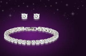 £9 instead of £98 (from Fakurma) for a tennis bracelet and matching stud earrings - get glittering and save 91%