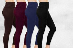 £6 instead of £29.98 (from Nothing New 2 Wear) for two pairs of fleece-lined leggings - choose from four colours and save 80%