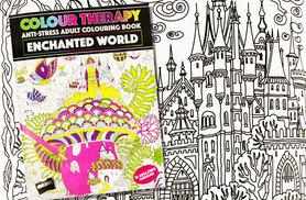 £3.99 instead of £19.99 for a colour therapy anti-stress adult colouring book in Ocean Dreams or Enchanted World, £6.99 for both - save up to 80%