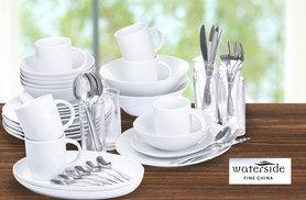 £42 instead of £89 (from Dinner Warehouse) for a 58 piece fine dining set - save 53%