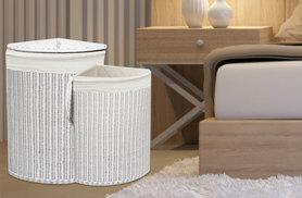 £24.99 instead of £75 (from Funky Buys) for a large white wicker laundry basket - save 67%