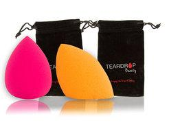 £2.99 instead of £16.99 (from A2B Shopping) for two Teardrop Beauty makeup blenders - get an orange and pink version and save 82%