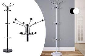 £16.99 instead of £59.99 (from Zoozio) for a modern 16-hook metal coat and hat stand with a marble base - save 72%