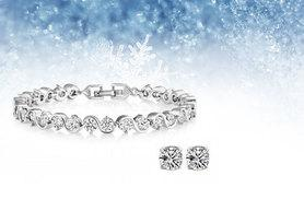 £9 instead of £98.99 (from Fakurma) for a crystal bracelet and stud set - save 91%