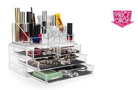 £14 instead of £39.99 (from Savisto) for a clear acrylic makeup and jewellery organiser - save 65%