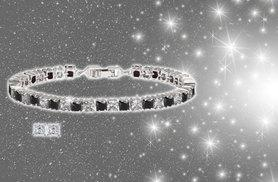 £9 instead of £99.99 (from Fakurma) for a black and clear crystal tennis bracelet and earring set - save 91%