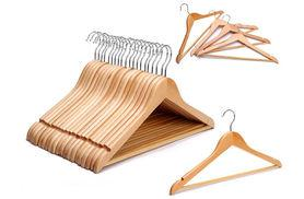 £9.99 instead of £19.99 for 20 wooden coat hangers from Ckent Ltd - save 52%