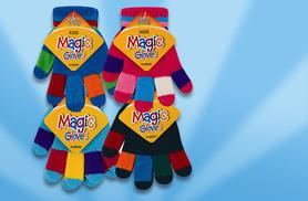 £6 instead of £37 (from Fair Retail Adventures) for four pairs of kids' multi-coloured striped gloves - save 85%