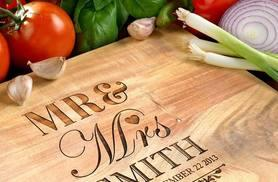 £10 instead of £59.95 (from Photobook Shop) for a small personalised chopping board, £15 for a medium or £25 for a large - save up to 83%