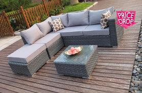 £309 (from Dreams Living) for a five-seater outdoor corner sofa and coffee table!