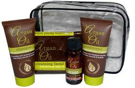 £3.99 instead of £7.99 for a 5pc Moroccan argan oil travel set from Ckent Ltd - save 50%