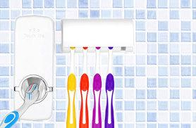 £5.98 instead of £12 (from Kequ World) for a toothbrush holder and toothpaste dispenser set or £10.98 for two - save up to 50%
