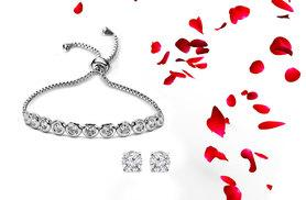 £19 instead of £99.99 (from Fakurma) for a tennis bracelet and earring set - save 81%