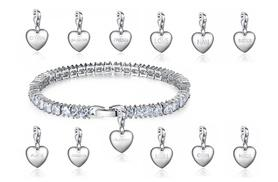 £22 instead of £199 (from Your Ideal Gift) for an emerald-cut tennis bracelet with one of 15 charm designs - save 89%