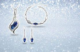 £12 instead of £147 (from Fakurma) for a crystal earring, necklace and bracelet set - choose from three colours and save 92%