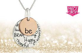 £6 instead of £29.99 (from My Boutique Store) for a 'Be' necklace - save 80%