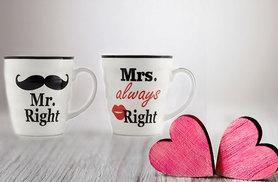 £6.99 instead of £18.99 (from London Exchain Store) for a set of two Mr. and Mrs. porcelain mugs - save 63%