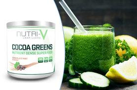 £14 instead of £45 (from Nutri-V) for a 30-day supply* of Nutri-V cocoa greens superfood powder - shake it up and save 69%