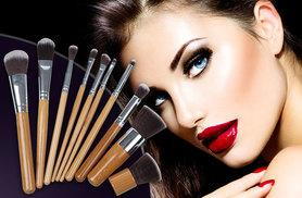 £6.99 instead of £57 (from Forever Cosmetics) for a 10-piece set of bamboo makeup brushes - upgrade your cosmetics kit and save 88%