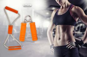 £4.99 (from Bells Bay) for a small fitness equipment kit, £11.99 for large