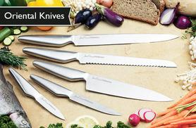£9 instead of £121 (from Jean-Patrique) for a five-piece oriental knife set - chop up a storm and save 93%