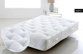 £169 (from Cheap Mattresses) for a single quartz or sapphire pocket sprung mattress, £199 for small double or double, £229 for king, £269 for super king - save up to 78%