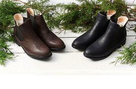 £28 instead of £96.01 (from Evaniy) for a pair of men's wool-lined Chelsea boots - choose black or coffee and save 71%