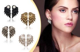 £6 instead of £34.99 (from Fakurma) for a pair of angel wing stud earrings - choose from four colours and save 83%