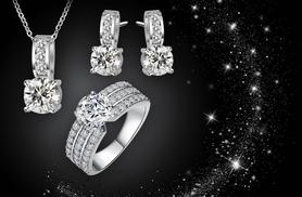 £10 instead of £197.99 (from Fakurma) for an crystal jewellery set including a ring, earrings and necklace - save 95%