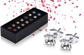 £9 instead of £98.50 (from Lily Spencer London) for a set of seven pairs of crystal earrings - save a sparkling 91%