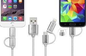 From £2.99 for a two-in-one charging cable available in one metre (£2.99), two metre (£3.99) and three metre (£4.99) lengths from Ckent Ltd - save up to 63%