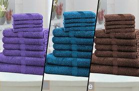 £12 instead of £79.99 (from Groundlevel) for a 10-piece Egyptian cotton towel bundle - select from 11 colours and save 85%