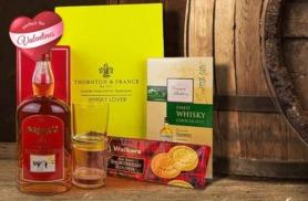 £29 instead of £49.99 for a whiskey Valentine's hamper 'for him' including chocolates, shortbread and more from First4Hampers - save 42%