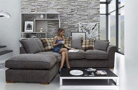 £549 instead of £1469.01 (from Furni Stop) for a Hugo corner sofa - choose from beige, silver and charcoal and save 63%