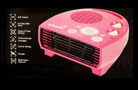 £9.99 instead of £26.01 (from Class Watches) for a Dimplex 2kW daisy fan heater – bring a splash of pink and save 62%