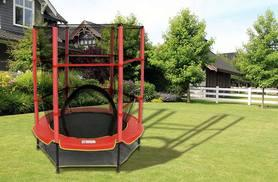 """£39.99 instead of £183.30 (from Who Needs Shops) for a 55"""" children's trampoline with safety net and red cover - save 78%"""
