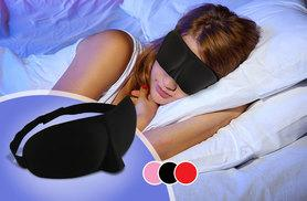 £3.99 instead of £19.99 (from Alvi's Fashion) for a pack of two sleeping masks - choose from black, pink and red and save 80%