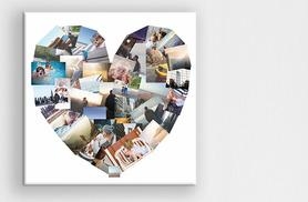 From £2.95 (from Discount Photo Prints) for a square personalised collage canvas print - choose from four sizes, get an ideal Valentine's gift and save up to 93%
