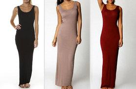 £7 instead of £49 (from Boni Caro) for a maxi tank dress - choose from red, black and beige and save 86%