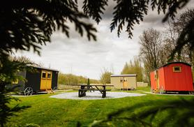 £59pp (at Samlesbury Hall) for an overnight Shepherd's hut stay for two people - save up to 41%