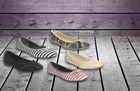 £8 (from Avendita) for a pair of ballet pumps in a choice of 15 designs - DELIVERY IS INCLUDED!