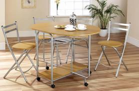 £99 for a 5-piece extendable dining set in a choice of 2 colours from Wowcher Direct!