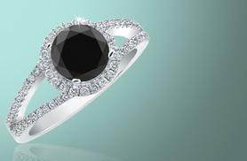 £189 instead of £1100 (from British Gem) for a 2.5ct black diamond ring - save 83%