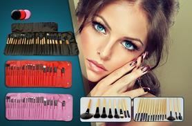 £9.99 instead of £24.99 (from London Exchainstore) for a 24-piece professional makeup brush set with PU leather case - choose from 3 colours and save 60%